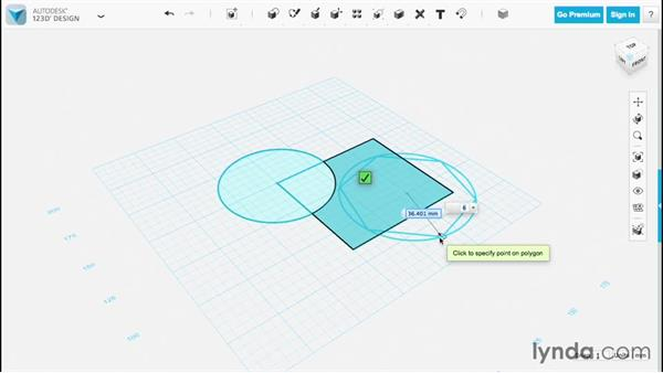 Drawing shapes: Up and Running with 123D Design