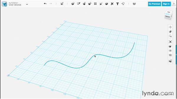 Drawing splines: Up and Running with 123D Design