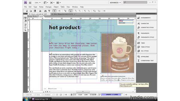Inserting cross-references: InCopy CS4 and InDesign CS4 Workflow Essential Training