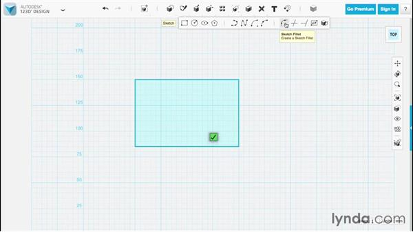 Creating fillets: Up and Running with 123D Design