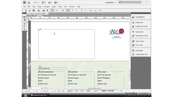 Working with tables: InCopy CS4 and InDesign CS4 Workflow Essential Training