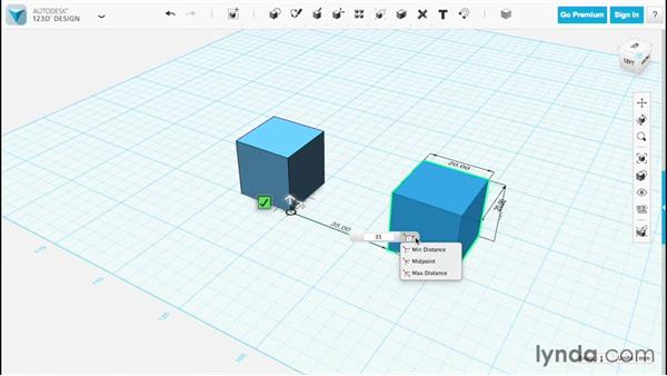 Accurate placement with the ruler: Up and Running with 123D Design