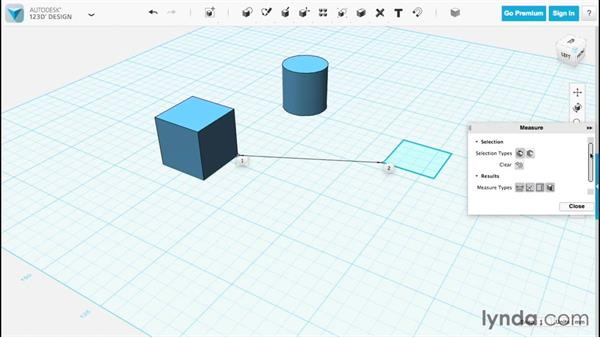 Using the Measure tool: Up and Running with 123D Design