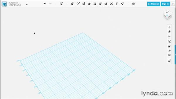 Projecting sketches: Up and Running with 123D Design