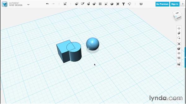 Grouping and ungrouping: Up and Running with 123D Design
