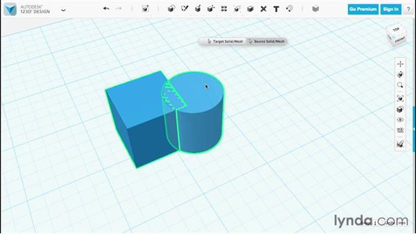 Merging objects: Up and Running with 123D Design