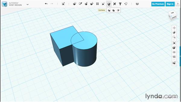 Subtracting objects: Up and Running with 123D Design