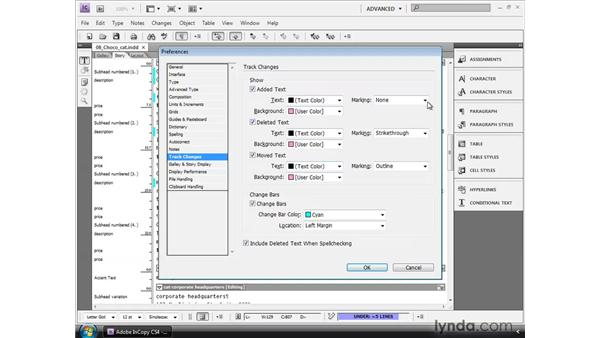 Customizing the markup: InCopy CS4 and InDesign CS4 Workflow Essential Training