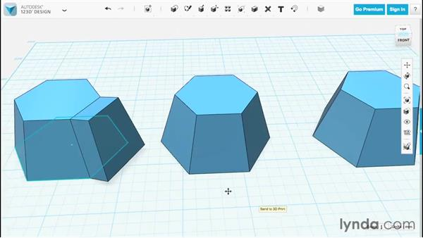 Combining while constructing: Up and Running with 123D Design