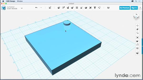 Creating a pattern of holes: Up and Running with 123D Design