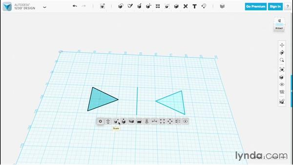 Using the Mirror tool: Up and Running with 123D Design