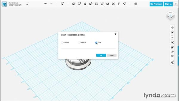 Saving and exporting: Up and Running with 123D Design