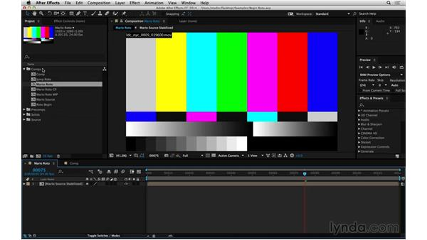 Using the exercise files: After Effects Compositing 05: Rotoscoping & Edges