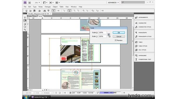 Using the Object menu: InCopy CS4 and InDesign CS4 Workflow Essential Training