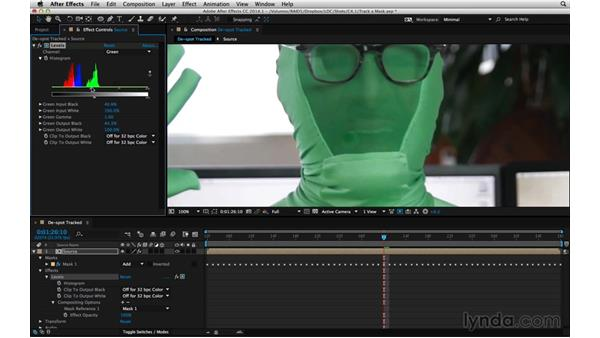 Apply a mask to effects: After Effects Compositing 05: Rotoscoping & Edges