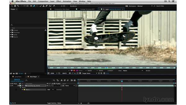 Shortcuts: Draw and edit a mask: After Effects Compositing 05: Rotoscoping & Edges