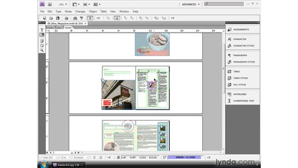 Inserting images into the story: InCopy CS4 and InDesign CS4 Workflow Essential Training