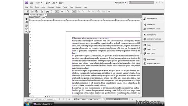 Creating new InCopy documents: InCopy CS4 and InDesign CS4 Workflow Essential Training
