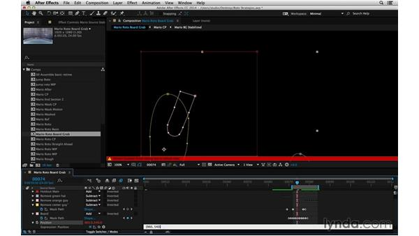Lock position only: After Effects Compositing 05: Rotoscoping & Edges