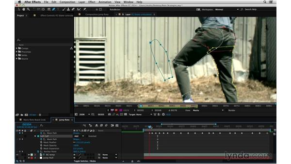 Build articulated roto with in-between frames: After Effects Compositing 05: Rotoscoping & Edges