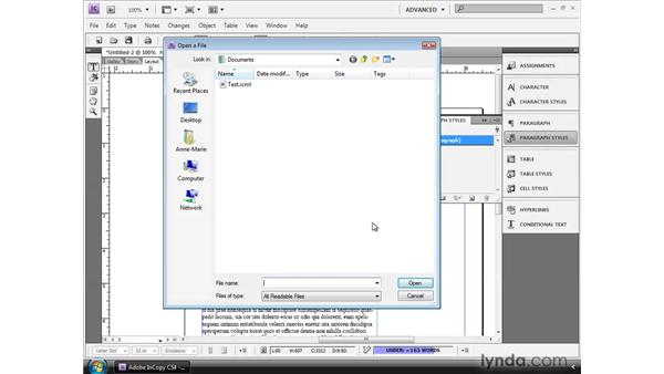 Creating InCopy templates: InCopy CS4 and InDesign CS4 Workflow Essential Training