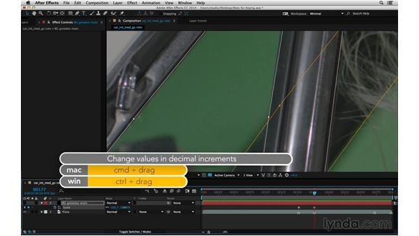 Car: Work with defocused masks: After Effects Compositing 05: Rotoscoping & Edges