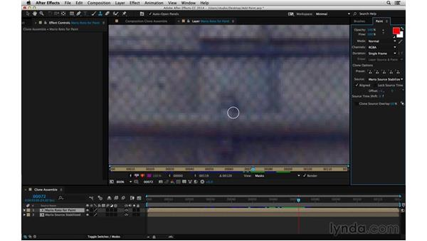 Clone brush setup and shortcuts: After Effects Compositing 05: Rotoscoping & Edges