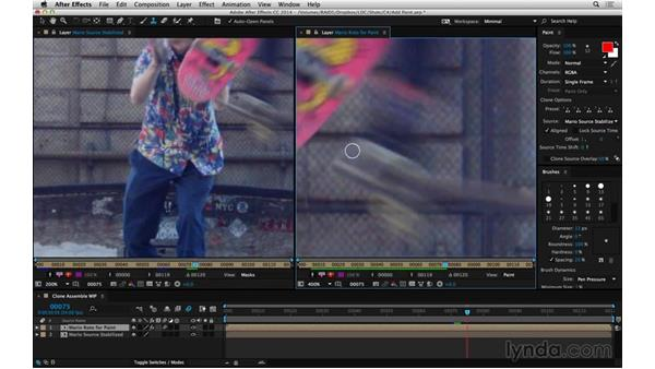 Working with clone brush: After Effects Compositing 05: Rotoscoping & Edges