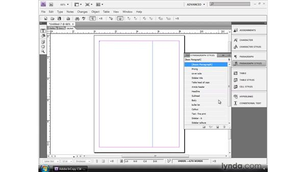 Opening Word files in InCopy: InCopy CS4 and InDesign CS4 Workflow Essential Training