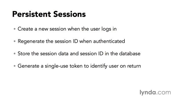 Implementing persistent sessions: Managing PHP Persistent Sessions