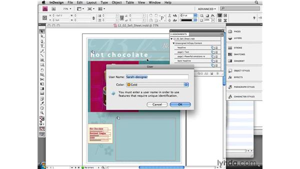 Working with the Assignments panel in InDesign: InCopy CS4 and InDesign CS4 Workflow Essential Training