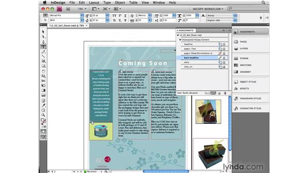 Editing and updating files: InCopy CS4 and InDesign CS4 Workflow Essential Training
