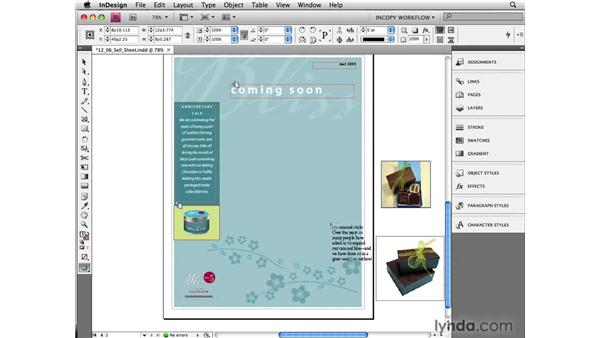 Placing new InCopy files: InCopy CS4 and InDesign CS4 Workflow Essential Training
