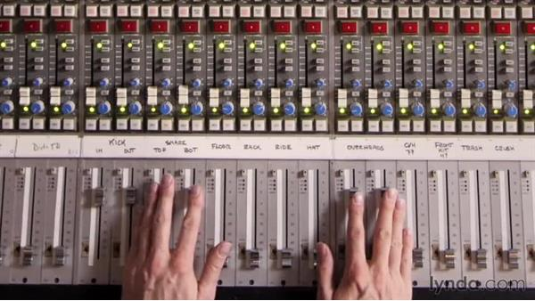 Widening the image with stereo overhead mics: Drum Mixing Techniques