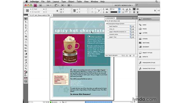 Closing out of a project: InCopy CS4 and InDesign CS4 Workflow Essential Training