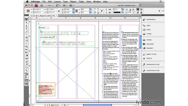 Updating stories and designs: InCopy CS4 and InDesign CS4 Workflow Essential Training