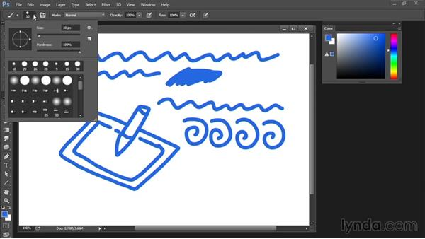 Basic settings of the Brush tool: Drawing and Painting in Photoshop - The Great Training