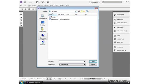 Creating assignments in InDesign: InCopy CS4 and InDesign CS4 Workflow Essential Training