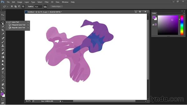 Lasso tool: Drawing and Painting in Photoshop - The Great Training