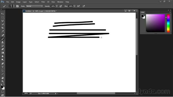 Straight lines with Shift key: Drawing and Painting in Photoshop - The Great Training