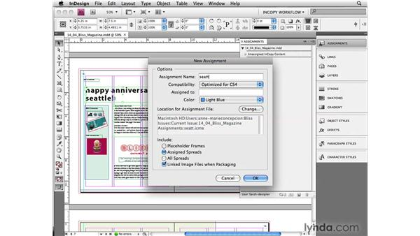 Keeping layout files local: InCopy CS4 and InDesign CS4 Workflow Essential Training