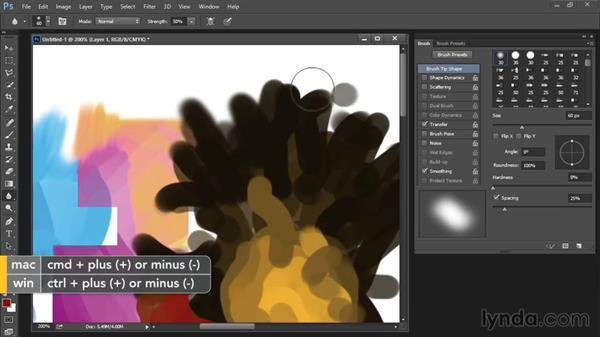 Smudge, Blur, and Sharpen tools: Drawing and Painting in Photoshop - The Great Training