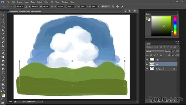 Moving and transforming layers: Drawing and Painting in Photoshop - The Great Training