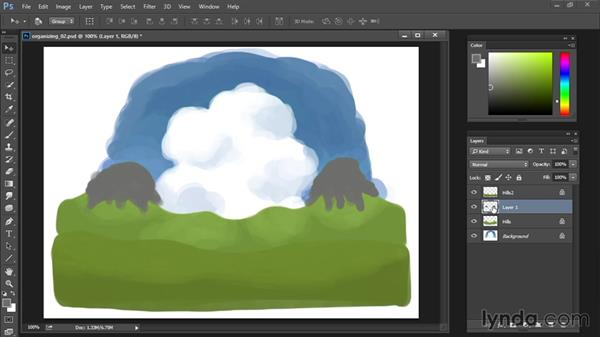 Group layers: Drawing and Painting in Photoshop - The Great Training