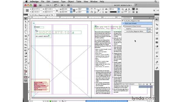 Tips for successful assignment workflows: InCopy CS4 and InDesign CS4 Workflow Essential Training