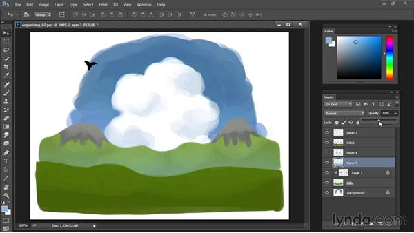 Layer opacity and blend modes: Drawing and Painting in Photoshop - The Great Training