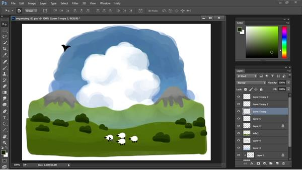 Duplicate and merge layers: Drawing and Painting in Photoshop - The Great Training