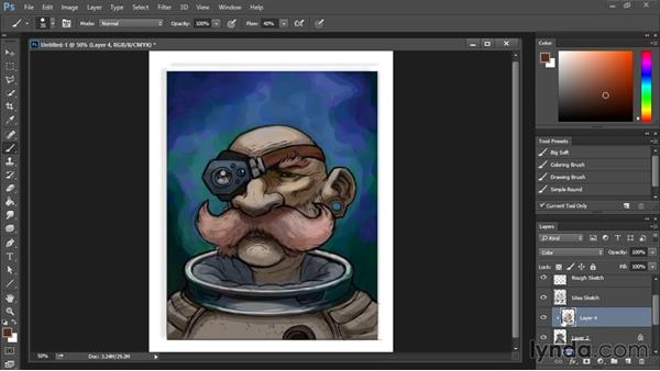 Using coloring layers: Drawing and Painting in Photoshop - The Great Training