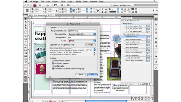 Creating assignment packages in InDesign: InCopy CS4 and InDesign CS4 Workflow Essential Training