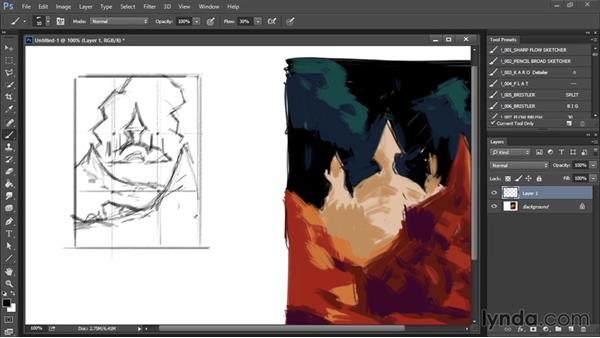 Color composition: Drawing and Painting in Photoshop - The Great Training